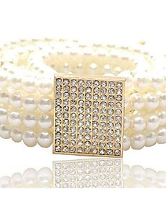 Women's Fashion Joker Rhinestone Pearl Belt