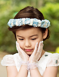Lovely Paper/ Satin Flower Wedding Flower Girl Wreath/ Headpiece