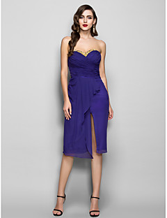 Homecoming Cocktail Party/Holiday Dress - Regency Plus Sizes Sheath/Column Sweetheart Knee-length Chiffon