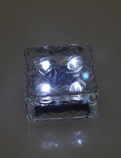 2ソーラーブリックアイスキューブパスライトクリスタルガーデンランプの設定