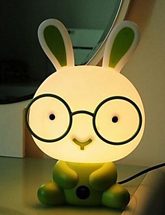 Stolní lampy Cartoon Rabbit Green Plastic Acrylic