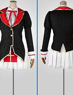 Inspirado por Jooubachi sin Oufusa Kaguya animado Disfraces Cosplay Trajes Cosplay Bloques Negro / Rojo Manga LargaAbrigo / Camisas /