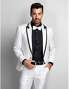 zwart&witte polyester standaard fit tweedelige smoking