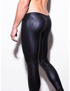 Herren Lange Unterhosen Lackleder