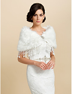 Coats/Jackets / Shawls Sleeveless Faux Fur Ivory Wedding / Party/Evening / Office & Career / Casual Tassels Clasp