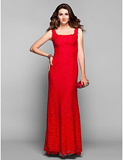 Prom / Formal Evening / Military Ball Dress - Elegant Sheath / Column Square Sweep / Brush Train Lace with
