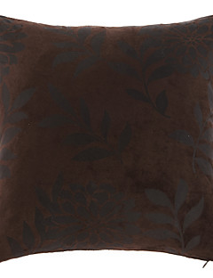 Floral élégant polyester coussin décoratif couverture