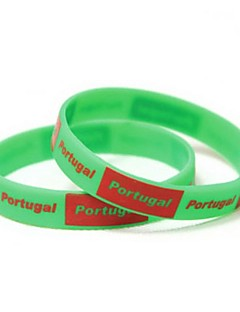 Patroon Portugal Vlag WK 2014 Silicone Wrist Band