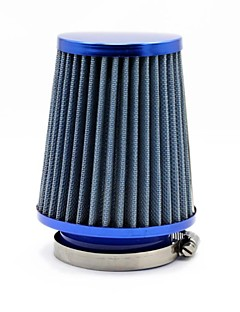 "TIROL Round Tapered Mini Ström Stack Filter 3 ""Auto kall luft intag Blue Air Filter Diameter 76mm"