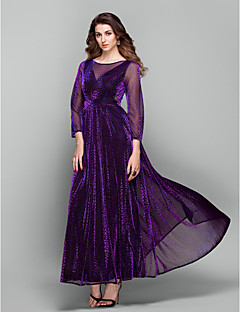 TS Couture® Formal Evening / Prom / Military Ball Dress - Grape Plus Sizes / Petite Sheath/Column Jewel Ankle-length Tulle
