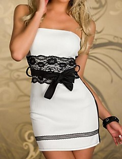 Women's  Strapless Lace Splicing Bodycon Mini Dress