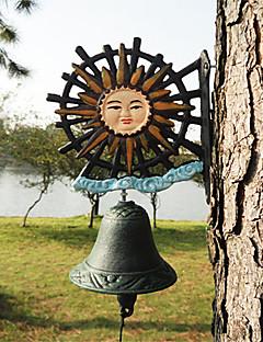 European Retro Exotic sin Sunflower av smijern Hånd-type Door Bell