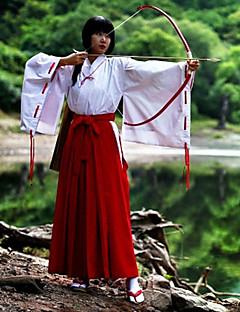 Inspireret af InuYasha Kikyo Anime Cosplay Kostumer Cosplay Kostumer Kimono Ensfarvet Langærmet Top Bukser Til Kvindelig