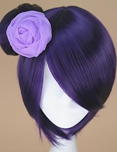 Cosplay Wigs Naruto Konan Purple Short Anime Cosplay Wigs 32 CM Heat Resistant Fiber Female