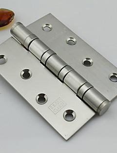 100mm × 75mm Mute børstet rustfritt stål dørhengselen