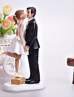 Taarttoppers Klassiek Koppel hars Bruiloft / Bruidsshower Wit / Zwart Klassiek Thema Cadeauverpakking