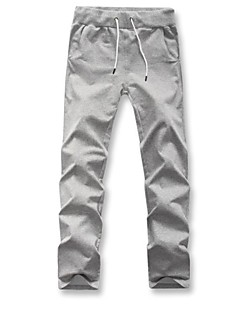 Men's Solid Casual / Sport Chinos / Sweatpants,Cotton Black / Blue / Gray