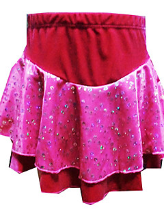 Flicka Red Velvet konståkning Dress (Assorted storlek)