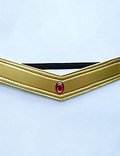Jewelry / Headpiece Inspired by Sailor Moon Sailor Pluto Anime Cosplay Accessories Headband Red / GoldenArtificial Gemstones / Polyester