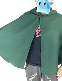 Inspired by Attack on Titan Levy Anime Cosplay Costumes Cosplay Suits Patchwork Green Long Sleeve Cloak