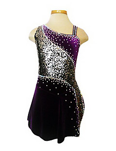 Tuniques de patinage, Purple Velvet patinage artistique robe de la fille (Assorted Taille)