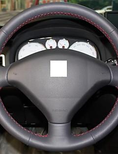 Xuji ™ Black echt leder stuurhoes voor Peugeot 307