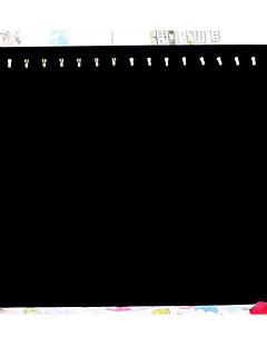 고전 열일곱 고리 목걸이 보석 검은 종이 플란넬 보석 전시 (1 개)를 서