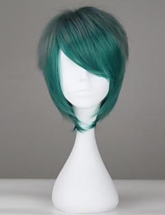 Lolita Wigs Punk Lolita Color Gradient Short / Straight Green Lolita Wig 30 CM Cosplay Wigs Solid Wig For Women