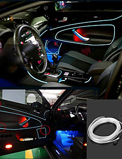 Marsing 3D Voice Control Flexible Car Decoration 2W 150lm 7500K Ice Blue Light EL Strip - (DC 12V / 5M)