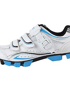 atléticos zapatos mtb ligero de los hombres Santic ciclismo mountian bloqueo - blanco + azul