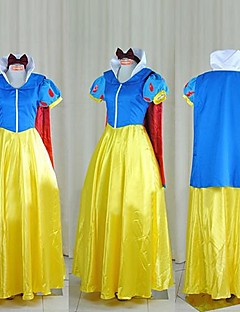 Cosplay Costumes / Party Costume Princess / Fairytale Festival/Holiday Halloween Costumes Yellow / Blue Patchwork Dress HalloweenFemale /