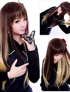 Zipper Show Queen Long Straight Punk Lolita Wig