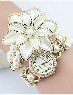 Women's Fashion Crystal Pearl Flower Shape Quartz Analog  Bracelet Watch(Assorted Colors) Cool Watches Unique Watches