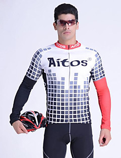 JAGGAD® Cycling Jersey Men's Long Sleeve Bike Breathable Jersey / Tops Polyester / Elastane Spring / Fall/Autumn Cycling/Bike
