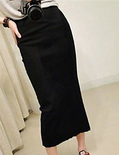 Women's Bodycon Knit Back Open Package Hip Skirts