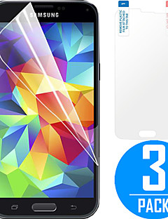 DSB ® Premium High Penetration HD LCD Screen Protector med Rengøringsklud mikrofiberkluden til Samsung Galaxy S5 (3 Pack)
