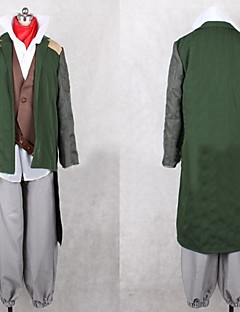 Inspired by Log Horizon Nyanta Anime Cosplay Costumes Cosplay Suits Patchwork Green Long SleeveCoat / Vest / Shirt / Pants / Scarf /