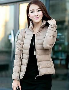 MEROKETTY®Women's Stand Collar Custom Fit Thin Zipper Down Coat