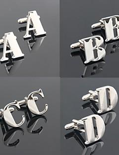 Groom/Groomsman Letter Brass Cufflinks