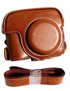 pajiatu® rétro PU appareil photo en cuir étui de protection Housse avec port de charge pour Canon Powershot G16