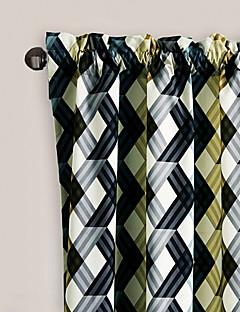 philips jeune - (un panneau) couleurs contemporaines froid chevauchement réseau rideau