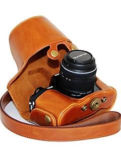 protection sac de couverture de cas de la caméra cuir dengpin® peau d'huile avec bandoulière pour Olympus OM-D E-m10 avec objectif 14-42 mm
