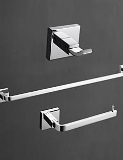 YALI.M®,Sada koupelnových doplňků Chrom Na ze´d Mosaz Moderní