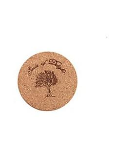 isolation thermique de bois de dessin animé manger tapis pour tasse ou assiette 10 x 10 cm