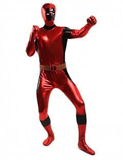 Deadpool Super Hero Red Shiny Metallic Unisex Zentai Suit