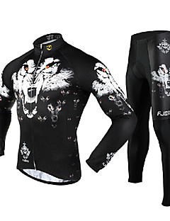 FJQXZ® Cycling Jersey with Tights Men's Long Sleeve BikeBreathable / Thermal / Warm / Quick Dry / Windproof / Ultraviolet Resistant /