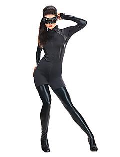 catwoman frais spandex costume noir lycra zentai unisexe