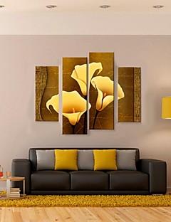 gergin tuval sanat altın callas 4 dekoratif boyama seti
