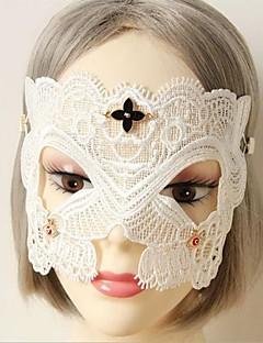 Maske Cosplay Fest/Feiertage Halloween Kostüme Weiß einfarbig / Spitze Maske Halloween / Karneval Frau Spitzen