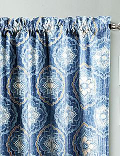 philips jeune - (un panneau) marine contemporaine bleu élégant de rideau floral